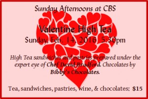 Valentines High Tea Event